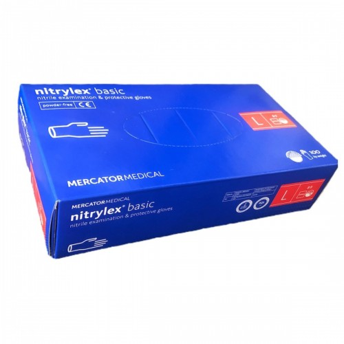 MERCATOR перчатки нитриловые б/п L фиолетовые