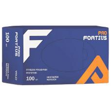 ProFortius перчатки из синтетического нитрила б/п М фиолетовые