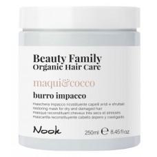 Маска восстанавливающая для сухих и поврежденных волос NOOK BEAUTY FAMILY ORGANIC 250мл