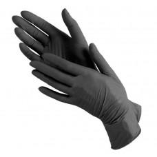 Medicare перчатки нитриловые черные L прочные