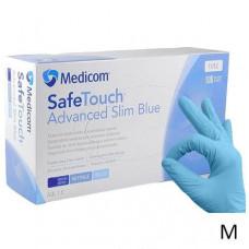 Medicom перчатки нитриловые синие M