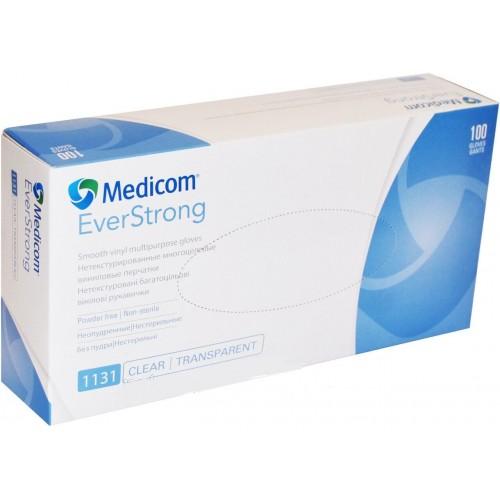 Medicom перчатки виниловые б/п L