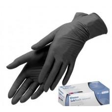 Medicom перчатки нитриловые черные S прочные