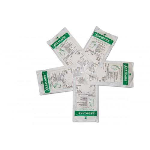 Перчатки нитриловые стерильные б/п M (1 пара)