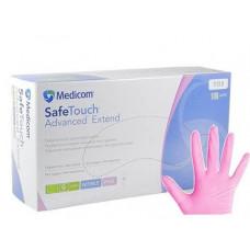 Medicom перчатки нитриловые розовые L