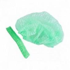 Шапочка гофре зеленая XL (100 шт/уп)