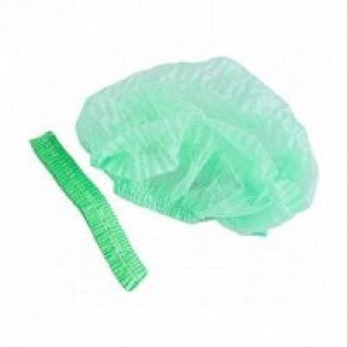 Шапочка гофре полиэтиленовая на резинке (100 шт/уп)