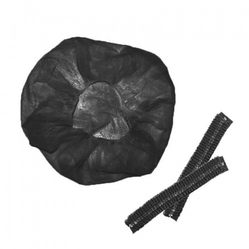 Шапочка гофре черная (100 шт/уп), уп